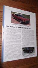 ★★1969 MUSTANG GT/MACH 1 SPECS INFO PHOTO 69 CJ 428 SCJ 1 FORD SUPER COBRA JET★★