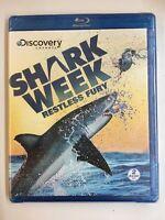 Shark Week: Relentless Fury (Blu-ray Disc, 2011, 2-Disc Set) NEW!