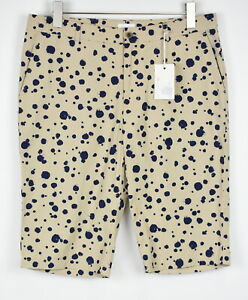 RRP £179 GANT RUGGER Men EU 48 Sand Colored Navy Dotted Chino Shorts 19005*