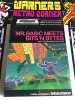 Intellivision Mr Basic Meets Bits N Byte New Sealed Cib Retro Game Complete Rare