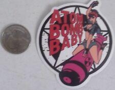 Sexy Lady Bomber sticker Bomb Military nose art vinyl atomic decal