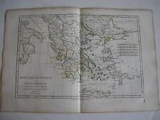 CARTE GRÊCE ANTIQUE par BONNE carte ancienne 1779   59b