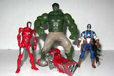 Marvel Avengers Toy Figure Set   IRON MAN, HULK & CAPTAIN AMERICA