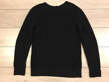 Algodón redondo para hombre Allsaints makkon Cable De punto Suéter Pequeño S RRP £ 90 Azul Marino