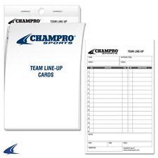 Champro Sports Line-Up Cards Set of 3 Af61