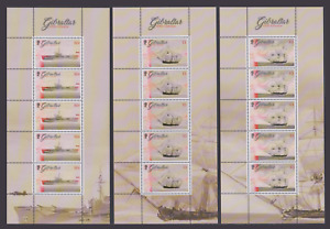 GIBRALTAR 2017 ROYAL NAVY SHIPS HMS GIBRALTAR SET OF 7 SHEETS MNH
