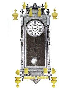 Ansonia Queen Elizabet All finals, Finials Clock14 pieces,
