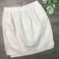 ODILLE size 4 neutral linen Farmhouse skirt