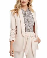 D K N Y Shawl-Collar Ruched-Sleeve Blazer Pink 12