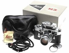 STUNNING LEICA BOXED SS M3 RANGEFINDER 35mm FILM CAMERA DR SUMMICRON 2/50mm CASE