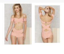 Nastygal On The Tight Side Bandage Future Bondage Off Shoulder SwimSuit Monokini