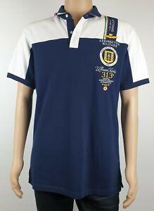 Aeronautica Militare Mens X-XL Italian Military Polo Shirt Frecce Tricolour XXL