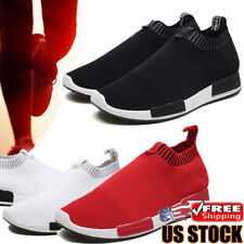 Men's Slip-On Sneakers Trainers Shoes Lightweight Athletic  Running Sport Tennis