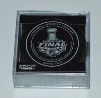 New 2016 NHL Stanley Cup Penguins vs. Sharks Sherwood Official Game Puck #2 Two