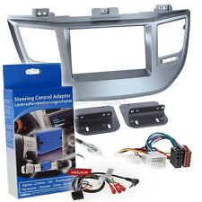 Hyundai Tucson AB 15 2-Din Car Radio Installation Set Silver