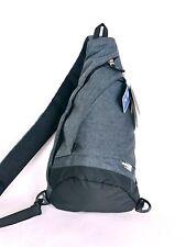 Swiss Gear Mono Sling black heather gray Crossbody Bag Backpack two pocket ADJ