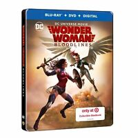 DC, Wonder Woman Bloodlines Target Exclusive Steelbook Blu-ray + DVD + Digital