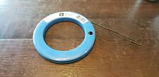 """Ideal 31-007 Steel Fish Tape & Reel 1/8"""" × .045"""" × 50' Tape & Case Made In USA"""