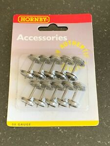 Hornby R8098 10x Metal 8 Spoked Wheel Sets for Hornby/other OO Gauge Wagons