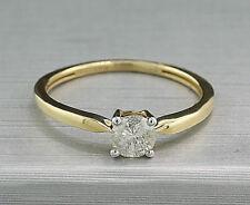 Brillant-Ring Solitärbrillant 0,50 carat Halbkaräter, 585-Gelbgold, neu
