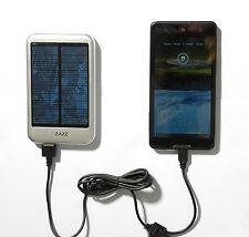 ZAZZ Solar Powerbank 6000mAh Portable Charger External Battery Pack, NEW