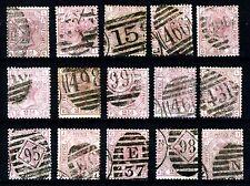 Go QV 1876 2 1/2 D. rosy-mauve plaques de 3 à 17 WMK Orb SG 141 (j4-j18 spécialisés)