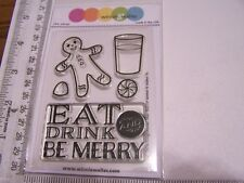 WINNIE & WALTER  EAT DRINK CHRISTMAS  Clear Stamps Gingerbread Candy Be Merry