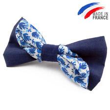 Made in France NOEUD PAPILLON Original Bleu pour homme - Men's  Blue Bowtie