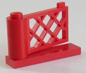 LEGO Zaun / Fence - Pforte / Gate 1 x 4 x 2 (2 Stück), rot # 3186 u. # 3187