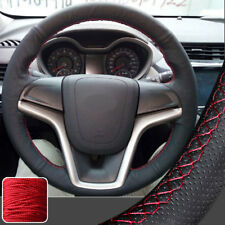 Real Leather Stitch Steering Wheel Cover for Chevrolet Malibu LTZ LS Sedan 13-15