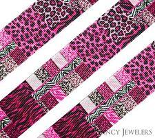 "High Quality 1"" Leopard Zebra Abstract Printed Grosgrain Ribbon Cheer Hair Bow"