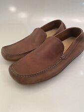 Banana Republic Brown Leather Slip On Loafer Dress Shoes Men's 11