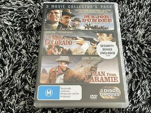Major Dundee / The Man From Colorado / The Man From Laramie DVD - Free Post