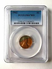 PR67RD TONED 1962 RED LINCOLN PENNY PCGS GRADED 1C PROOF COIN LIBERTY US PR67