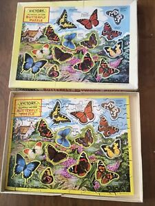 Victory Plywood Jig-Saw Puzzle - Butterfly -Vintage