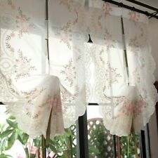 Balloon Ribbon Roman Curtains Lace Embroidery Bedroom Balcony Voile Country Chic