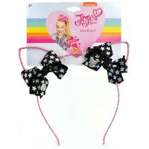 Girls Headband. Jojo Siwa Girls Glitter Cat Ear with Mini Bow Headband. Gift Her