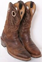 Ariat 34824 Heritage Roughstock Brown Square Toe Cowboy Boots Men's US 8.5D
