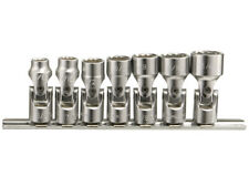 Genius 3/8in Drive 7 Piece Universal Joint Socket Set SAE 3/8 - 3/4in. US-307S