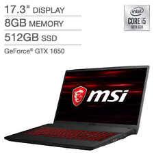 New MSI GF75 Thin 17.3'' FHD 120Hz Laptop i5-10300H 8GB 512GB SSD GTX 1650 4GB
