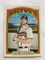 2021 Topps Heritage Baseball SP Dansby Swanson Atlanta Braves Card #433