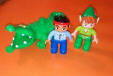 LEGO DUPLO JAKE AND THE NEVERLAND PIRATES FIGURES JAKE PETER PAN CROCODILE