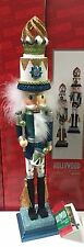 "Kurt Adler 18"" Hollywood Blue White Glitter Drummer Christmas Nutcracker HA0175"