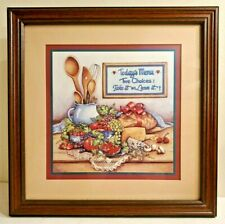 Home Interiors Framed Print Picture Today's Menu Two Choices Take it or Leave it