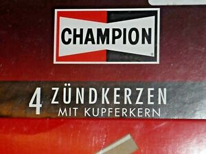 Set of 4 original Champion N6YC (OE087) spark plugs NEW in BOX NOS