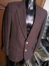 Vtg PALM BEACH dark Burgundy JACKET blazer coat 40-41 R Gold BUTTONS golf EUC