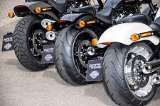Rick´s Harley Kennzeichen-HALTER-KIT seitlich mit TÜV/ABE Breakout 2018 glanz