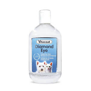 Dog Eye Stain Remover | Vitacoat Johnsons Cats Puppies Tear Facial Cleaner 250ml