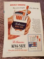 Rothmans Cigarettes OR Swiss Watches - 1959 Advertisement