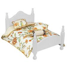 Reutter Porzellan Tagesdecke / Flower Queen Bed Comforter Set Puppenstube 1:12